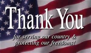 Thank you for serving our country & protecting our freedoms!